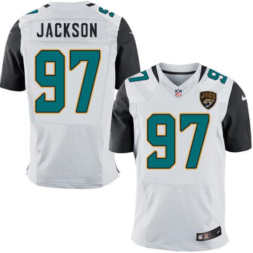 Nike Jaguars Men's #97 Malik Jackson Stitched White NFL Elite Jersey