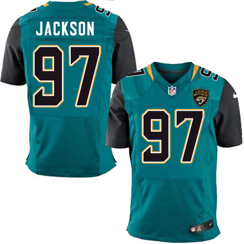Nike Jaguars Men's #97 Malik Jackson Stitched Teal Green Team Color NFL Elite Jersey