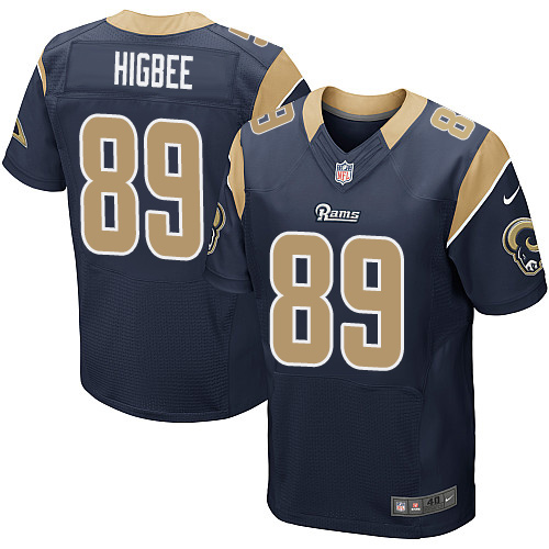 Nike Rams Men's #89 Tyler Higbee Stitched Navy Blue Team Color NFL Elite Jersey