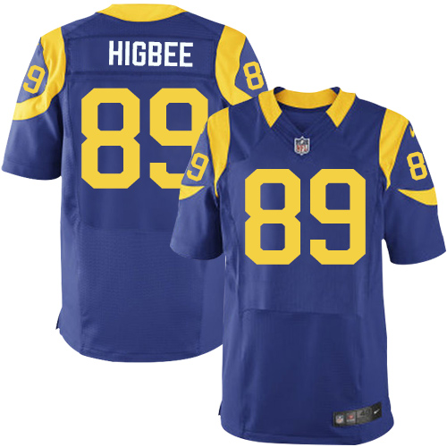 Nike Rams Men's #89 Tyler Higbee Stitched Royal Blue Alternate NFL Elite Jersey