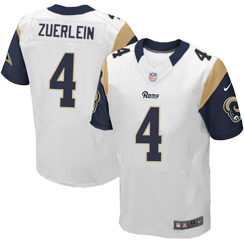 Nike Rams Men's #4 Greg Zuerlein Stitched White NFL Elite Jersey