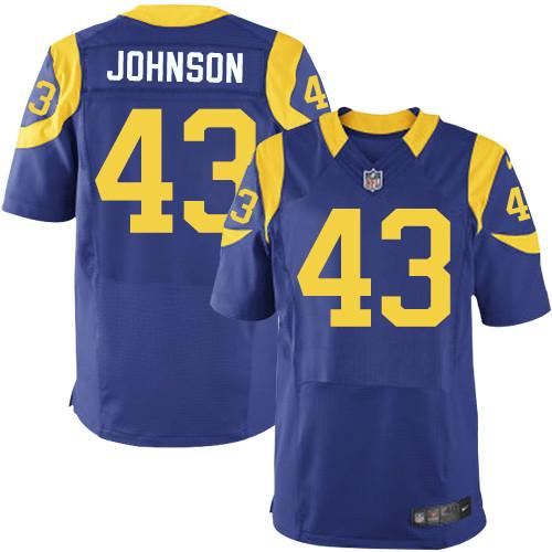 Nike Rams Men's #43 John Johnson Stitched Royal Blue Alternate NFL Elite Jersey
