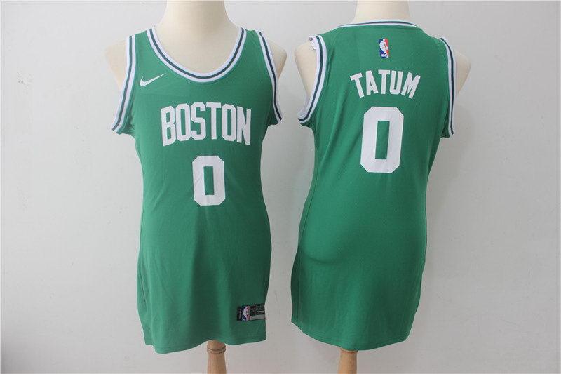 Women Nike  Celtics 0 Jayson Tatum Green Nike Swingman Jersey