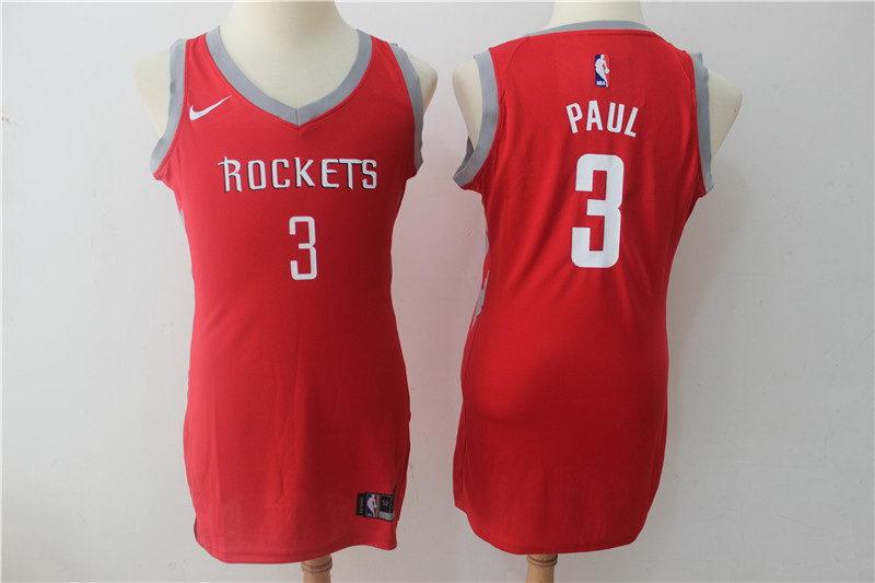 Women Nike Rockets 3 Chris Paul Red Swingman Jersey