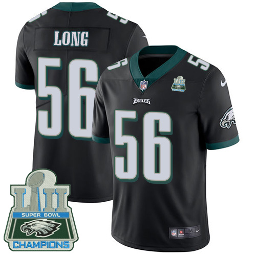 Men's Nike Eagles #56 Chris Long Black Alternate Super Bowl LII Champions Stitched NFL Vapor Untouchable Limited Jersey