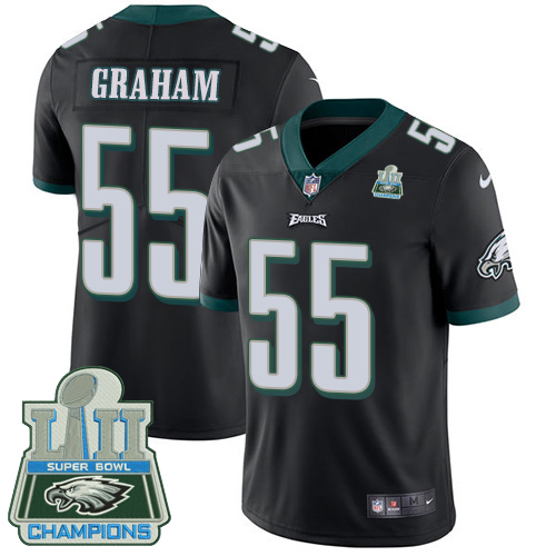 Men's Nike Eagles #55 Brandon Graham Black Alternate Super Bowl LII Champions Stitched NFL Vapor Untouchable Limited Jersey