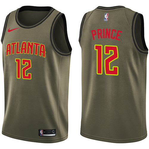 Nike Atlanta Hawks #12 Taurean Prince Green Men's Salute to Service NBA Swingman Jersey