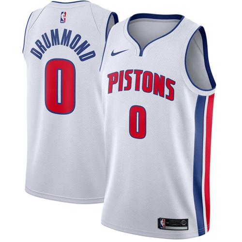 Nike Detroit Pistons #0 Andre Drummond White NBA Swingman Association Edition Jersey