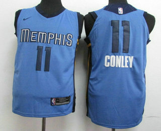Nike Memphis Grizzlies #11 Mike Conley New Light Blue 2017-2018 Men's Swingman Stitched NBA Jersey