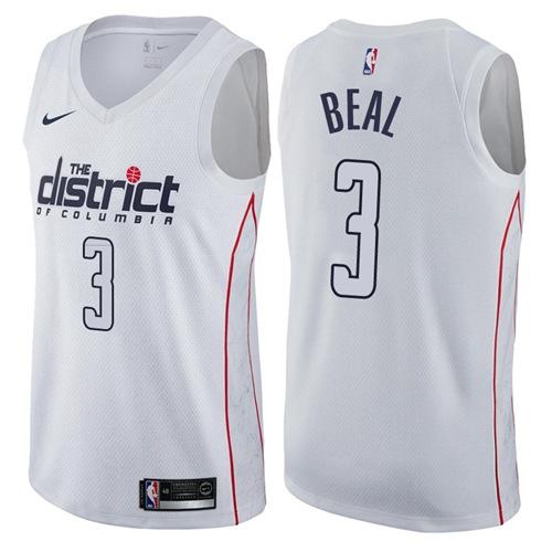 Nike Washington Wizards #3 Bradley Beal White Men's NBA Swingman City Edition Jersey