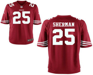 Men's San Francisco 49ers #25 Richard Sherman Red Stitched NFL Nike Elite Jersey