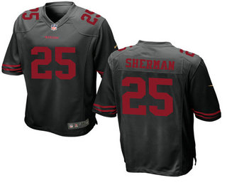 Men's San Francisco 49ers #25 Richard Sherman Black Alternate Stitched NFL Nike Elite Jersey