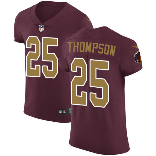 Nike Washington Redskins #25 Chris Thompson Burgundy Red Men's Stitched NFL Vapor Untouchable Elite Jersey