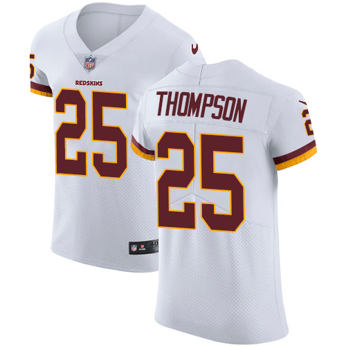 Nike Washington Redskins #25 Chris Thompson Burgundy White Men's Stitched NFL Vapor Untouchable Elite Jersey