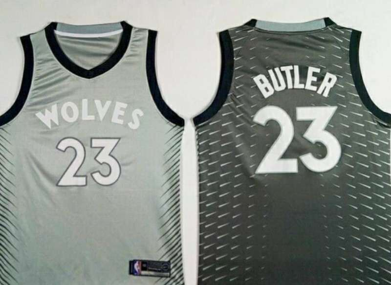 Nike Minnesota Timberwolves #23 Jimmy Butler Gray NBA Swingman City Edition Jersey