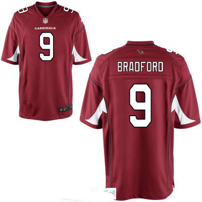 Men's Arizona Cardinals #9 Sam Bradford Red Stitched NFL Nike Game Jersey
