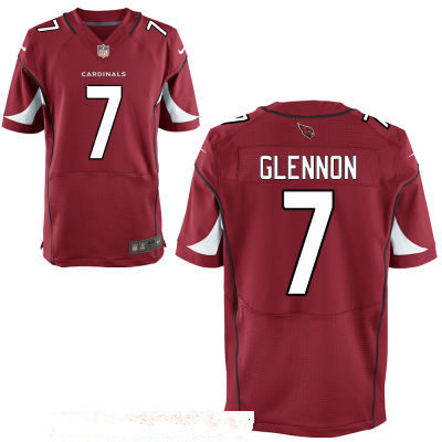 Men's Arizona Cardinals #7 Mike Glennon Red Stitched NFL Nike Elite Jersey