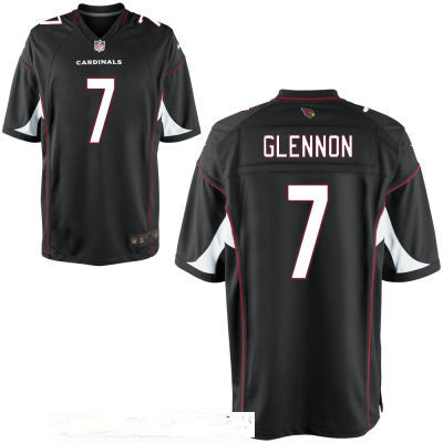 Men's Arizona Cardinals #7 Mike Glennon Black Stitched NFL Nike Elite Jersey