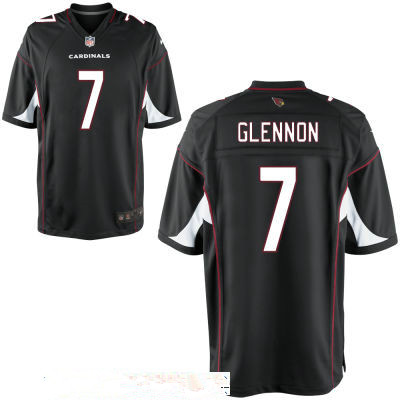 Men's Arizona Cardinals #7 Mike Glennon Black Stitched NFL Nike Game Jersey