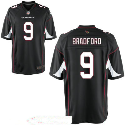 Men's Arizona Cardinals #9 Sam Bradford Black Stitched NFL Nike Game Jersey