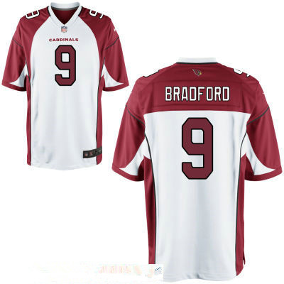 Men's Arizona Cardinals #9 Sam Bradford White Stitched NFL Nike Game Jersey