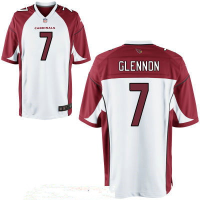 Men's Arizona Cardinals #7 Mike Glennon White Stitched NFL Nike Game Jersey