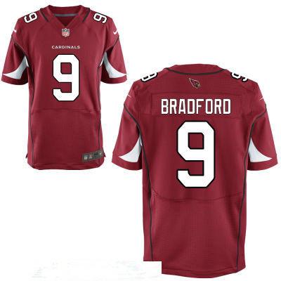 Men's Arizona Cardinals #9 Sam Bradford Red Stitched NFL Nike Elite Jersey