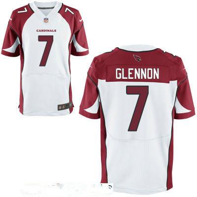 Men's Arizona Cardinals #7 Mike Glennon White Stitched NFL Nike Elite Jersey