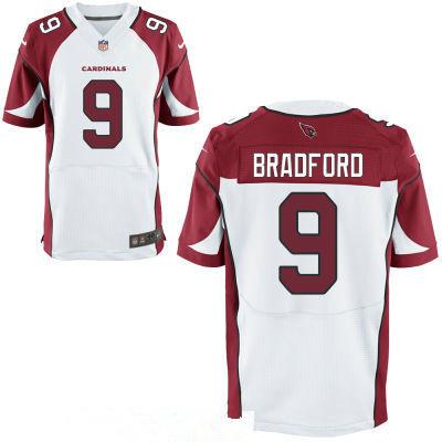 Men's Arizona Cardinals #9 Sam Bradford White Stitched NFL Nike Elite Jersey