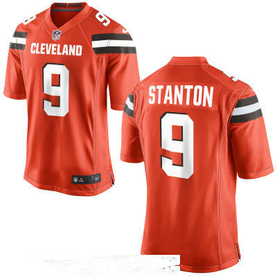 Men's Cleveland Browns #9 Drew Stanton Orange Stitched NFL Nike Game Jersey