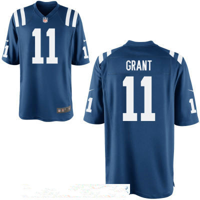 Men's Indianapolis Colts #11 Ryan Grant Royal Blue Stitched NFL Nike Game Jersey