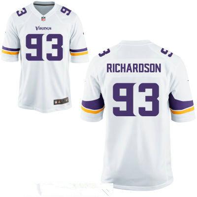 Men's Minnesota Vikings #93 Sheldon Richardson White Stitched NFL Nike Game Jersey