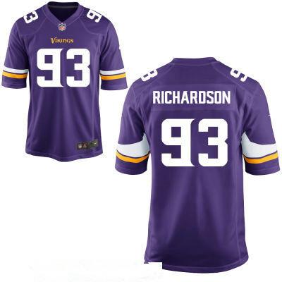 Men's Minnesota Vikings #93 Sheldon Richardson Purple Team Color Stitched NFL Nike Game Jersey