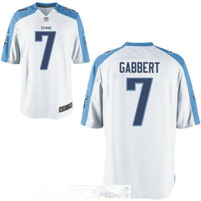 Men's Tennessee Titans #7 Blaine Gabbert White Stitched NFL Nike Game Jersey