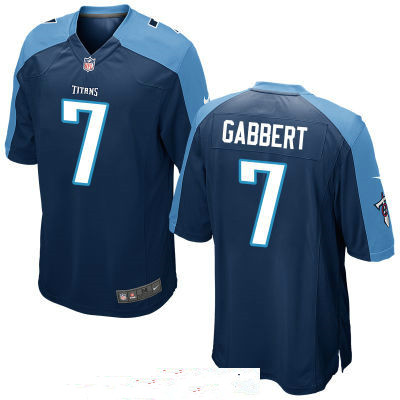 Men's Tennessee Titans #7 Blaine Gabbert Navy Blue Stitched NFL Nike Game Jersey