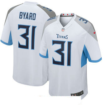 Men's Tennessee Titans #31 Kevin Byard White New 2018 Nike Game Jersey