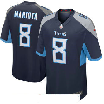 Men's Tennessee Titans #8 Marcus Mariota Navy New 2018 Nike Game Jersey