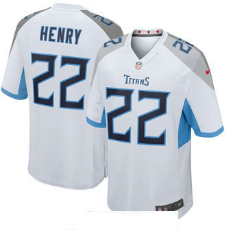Men's Tennessee Titans #22 Derrick Henry White New 2018 Nike Game Jersey