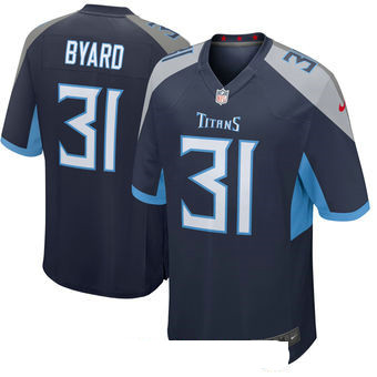 Men's Tennessee Titans #31 Kevin Byard Navy New 2018 Nike Game Jersey