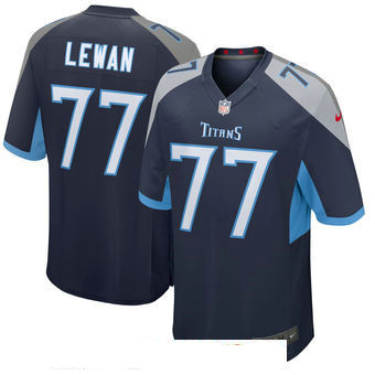 Men's Tennessee Titans #77 Taylor Lewan Navy New 2018 Nike Game Jersey
