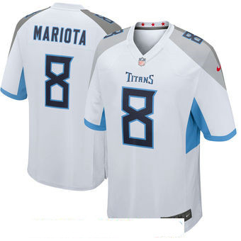 Men's Tennessee Titans #8 Marcus Mariota White New 2018 Nike Game Jersey