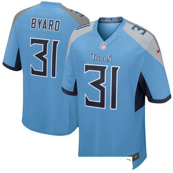 Men's Tennessee Titans #31 Kevin Byard Light Blue New 2018 Nike Game Jersey