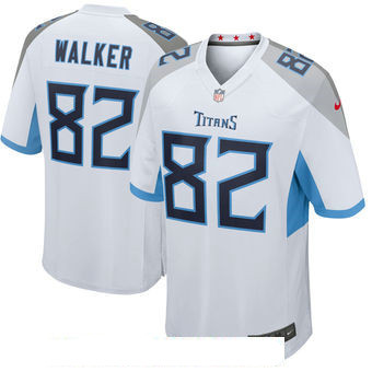 Men's Tennessee Titans #82 Delanie Walker White New 2018 Nike Game Jersey