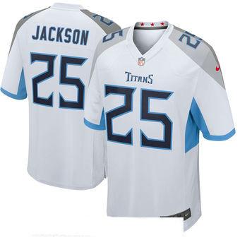 Men's Tennessee Titans #25 Adoree' Jackson White New 2018 Nike Game Jersey