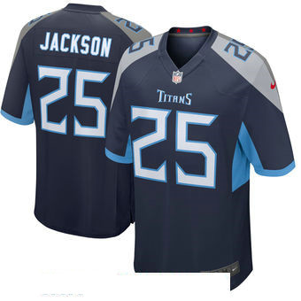Men's Tennessee Titans #25 Adoree' Jackson Navy New 2018 Nike Game Jersey