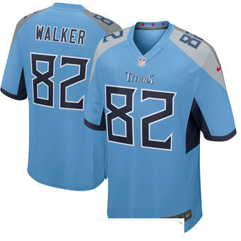 Men's Tennessee Titans #82 Delanie Walker Light Blue New 2018 Nike Game Jersey