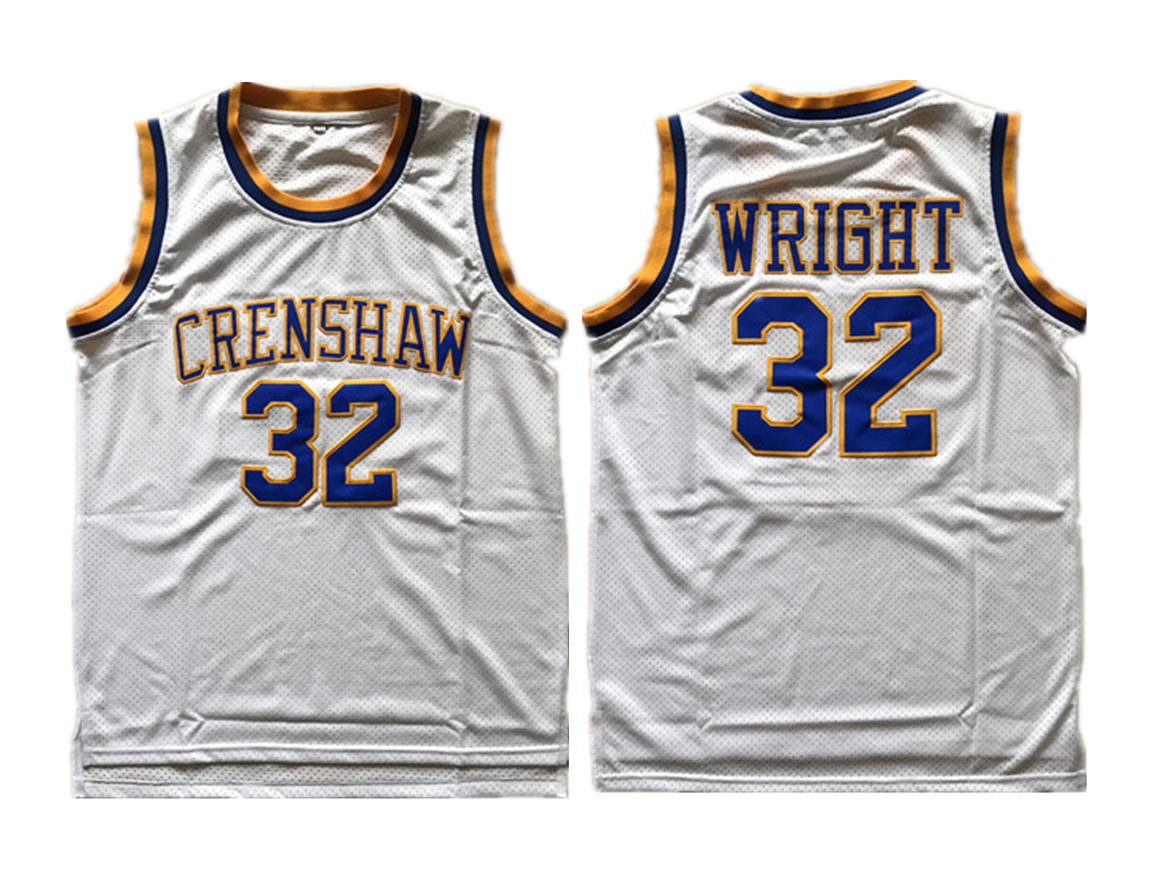 Crenshaw Love And Baskeball #32 Monica Wright White Stitched Movie Jersey