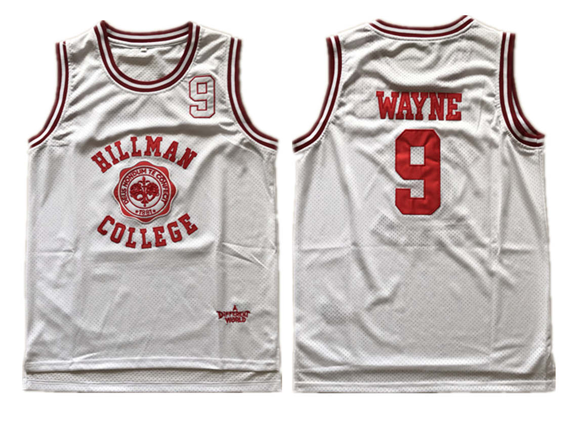 Hillman College Theater Dwayne Wayne White Stitched Movie Jersey