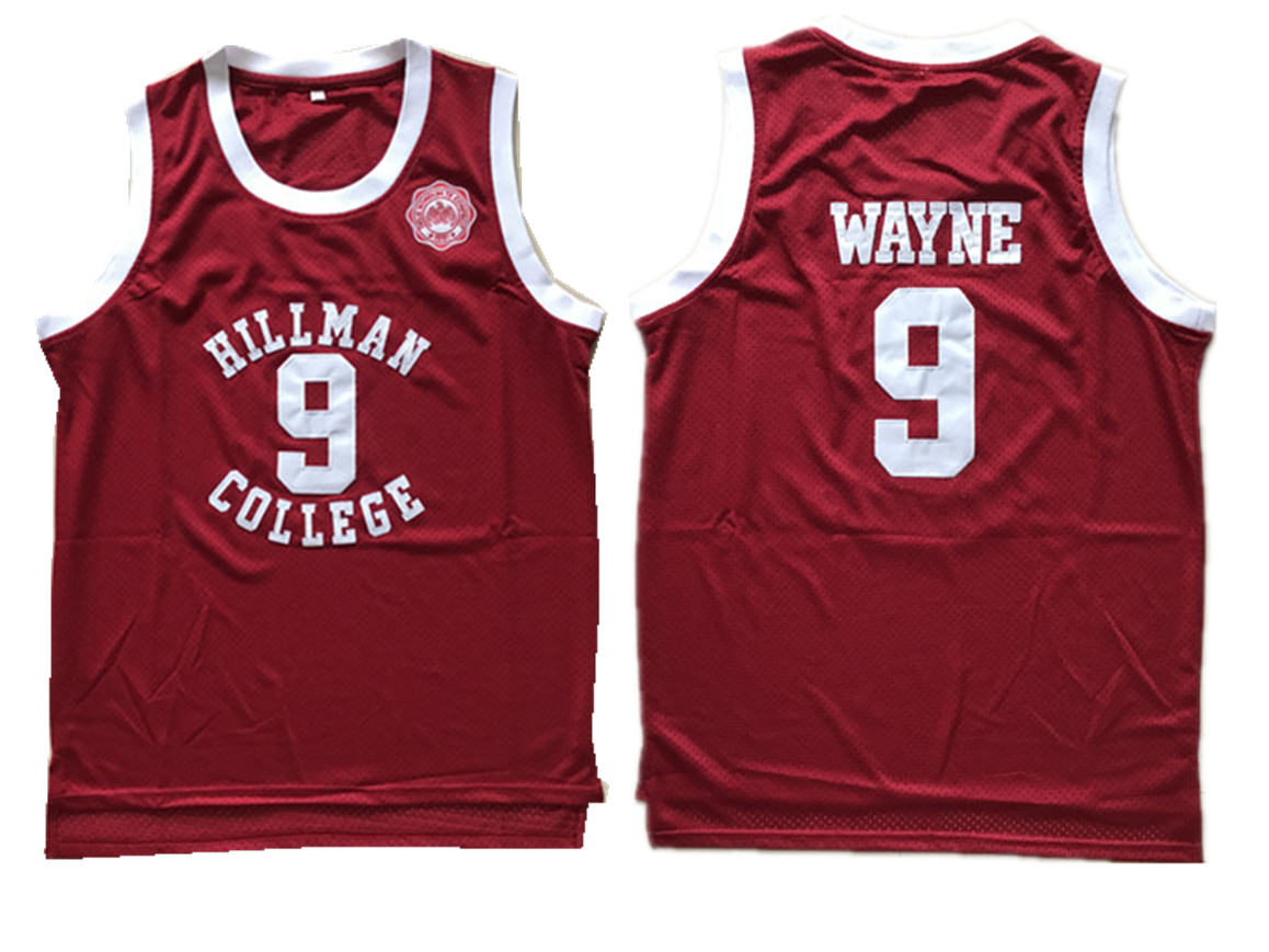 Hillman College Theater Dwayne Wayne Red Mesh Stitched Movie Jersey