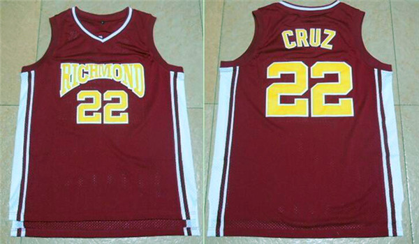Richmond Oilers 22 Timo Cruz Home Coach Carter Stitched Movie Jersey